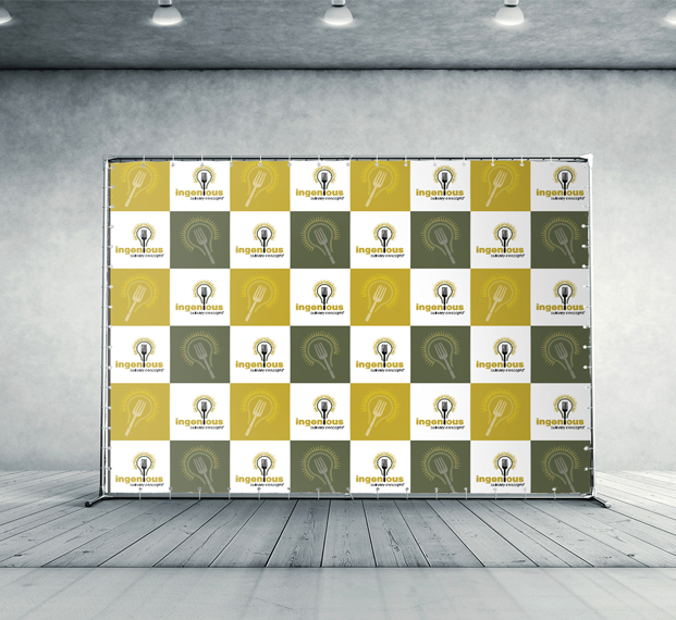 Step and Repeat 8'x8' Fabric Banner